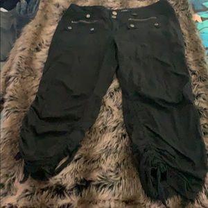 Black Capri Cargo Pants